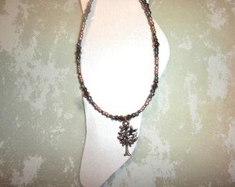 Antique Copper Tree Of Life Ankle Bracelet