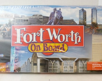 real estate trading game, Ft Worth on Board