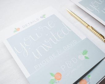 ADD ON: Belly Band | Holly Wedding Stationery Collection | Floral Hand Lettered Wedding Stationery