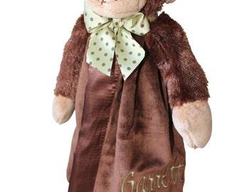 baby blanket, animal blanket, personalized blanket, name blanket, monkey blanket, boy blanket, baby shower gift