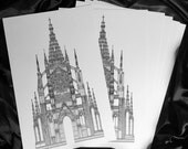 Studio Sale - Gothic Cathedral Architecture Artist Proofs - Ex Cathedra 11x17 Fine Art Religious Architectural Print - FREE SHIPPING to US