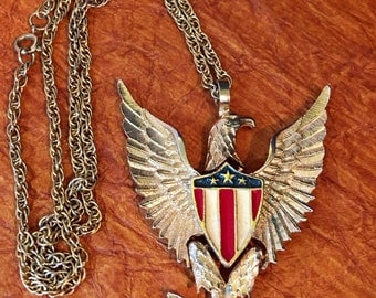American Eagle Pendant Necklace