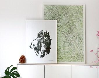 Otso print in collaboration with Jesse Kontoniemi