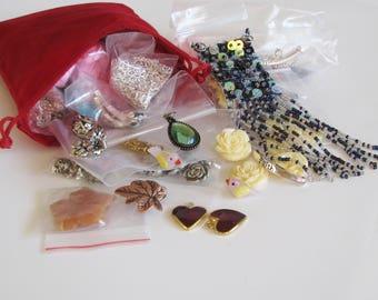 Mystery Bag Jewelry Making Bulk Bag, Jewelry Making Grab Bag, Craft Making Grab Bag, Grab Bag 11