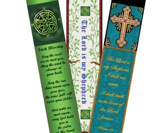 6 printable Christian bookmarks, Expressions of Faith, 3 designs, digital download