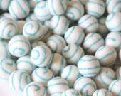 Felt Balls- Aqua Swirl- 10 Pk- 25mm