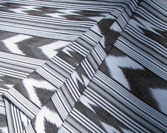 Guatemala Fabric in Onyx and White Chevron Stripes