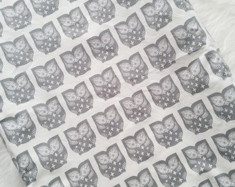 Hooty Owl changing pad cover, contoured changing pad cover, owl nursery