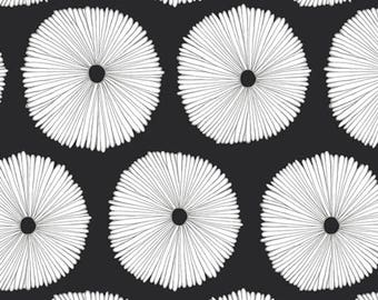 Black and White Blooms faux fur baby blanket, minky baby blanket, gender neutral baby bedding, satin trim blanket