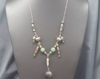 Torch Fired Copper Beaded Necklace