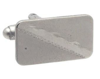 Antique/Vintage Silver tone Rectangle cufflinks #1416