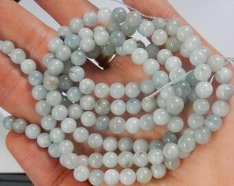 6mm aquamarine round gemstone beads, FULL STRAND