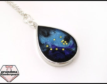 Drop of Space Necklace, Galaxy Necklace, Space, Stars, Constellation Jewelry, Galaxy Jewelry
