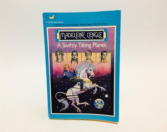 BIRTHDAY SALE Vintage Children's Book A Swiftly Turning Planet by Madeleine L'Engle 1980s Paperback Classic