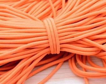 5 yards Bright orange Elastic cord 4mm
