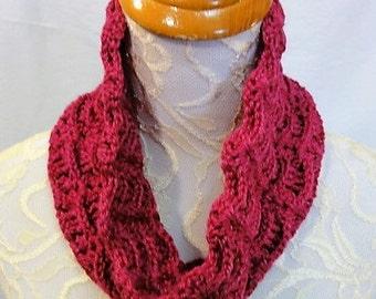bright pink alpaca silk cowl