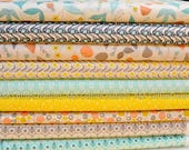 ORGANIC Cotton FabricBundle of 9,Quilting Weight Cotton from Cloud9, Grey Abbey Collection