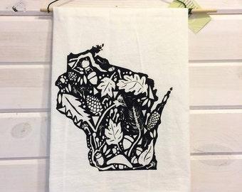 Wisconsin Screen Print Dishtowel