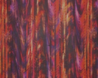 Rich Red and Purple Global Spice Digital Print Pure Cotton Fabric--By the Yard