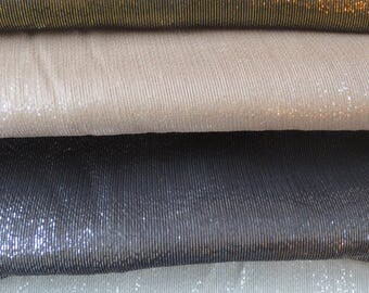 4 REMNANTS--Metallic Silk Chiffon Fabric--4 & 3/4 YARDS TOTAL