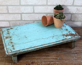 Dining Table Centerpiece Wood Tray Indian Bajot Blue Table Boho Decor Antique Small Side Table Wedding Decor Trivet Moroccan Interior