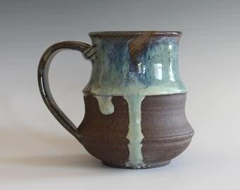 DISCOUNTED Mug Pottery, 13 oz, handmade ceramic cup, handthrown mug, stoneware mug, pottery mug, unique coffee mug, ceramics and pottery