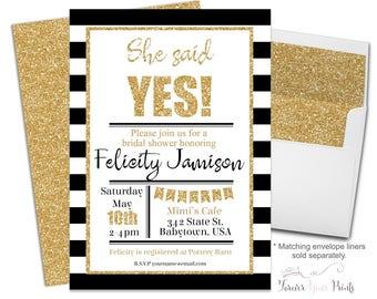 Modern Engagement Party Invitation -  Engagement Party Invites - Bridal Shower Invitation - Bridal Shower Invite - Wedding Shower Invitation