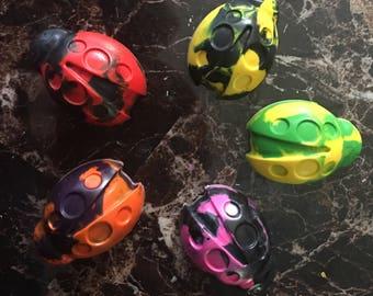 Ladybug crayons