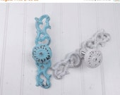 ON SALE Shabby Chic Drawer Pull / Decorative  Pull / French Country / Cast Iron Drawer Knob