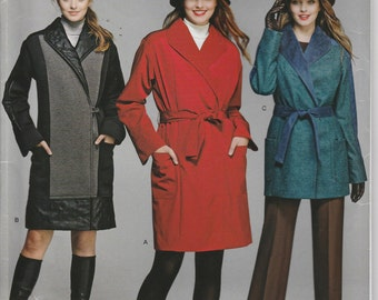 Lined Coat Pattern Trench Jacket Button-Out Lining Bottoms Misses Size 6, 8, 10, 12, 14 Uncut Simplicity 1015