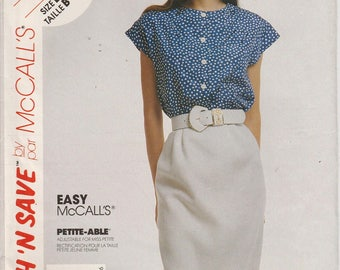 Easy Skirt Pattern Top Pattern Misses Size 14 - 16 - 18  Uncut Stitch 'n Save 4785