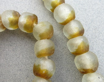 African Gold Glass Beads
