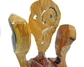 The Scream, Expressionism, Wood Art, Abstract Art, Modern Sculpture, Wood Sculpture, Wood Carving, Wood Decor, Abstract Sculpture, Unique Ar