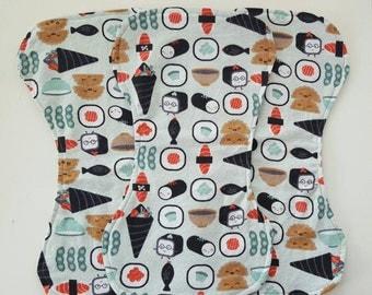 Set of 3 Sushi Burp Cloths