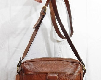 fall sale 2016 Authentic Vintage COACH Brown Pebbled leather Dakota Sheridan Made in Italy