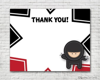 Hi Yah Matching Thank You Card - Instant Download