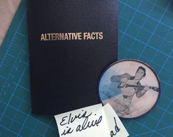 ALTERNATIVE FACTS-The hand-made original notebook/journal