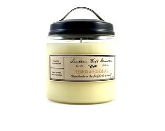 Lemon & Rosemary Candle - Lemon Candle - Rosemary Candle - Aromatherapy Candle - Rosemary Essential Oil - Spring Candle - Scented Candle