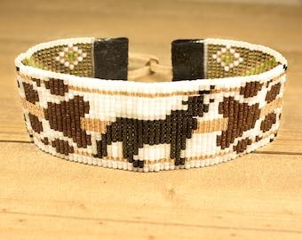 Wolf Bracelet - Bead Bracelet - Adjustable Bracelet - Animal Bead Bracelet - Womens Bracelet - Boho Style Jewelry - Gifts For Her