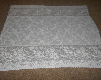 Lace Tablecloth Scrap - Repurpose - Repair
