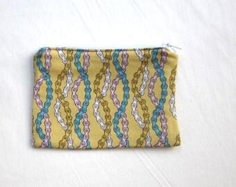 Bike Chains Fabric Coin Purse/Zipper Pouch/Gift Card Envelope Bag