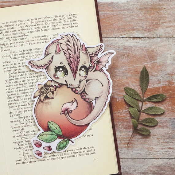 Vitamin Dragon - Pomegranate - bookmark - made to order