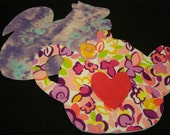 Reserved for Ria Felt Hot Pads Squirrel/Teapot Pink/Purple