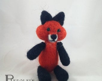 Needle Felt Lil' Buddy Handmade Red Fox Doll