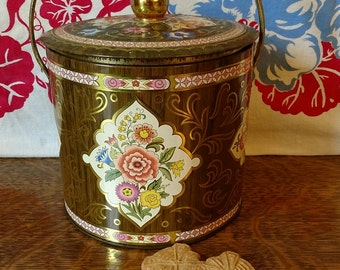 Vintage Biscuit Tin Canister Made in England