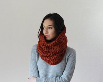 End of season SALE Large Chunky Cowl. Thermal Textured Scarf. snood infinity scarf // The Chartres - SPICE