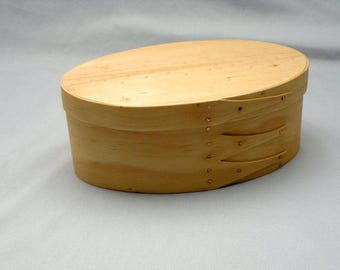 Shaker oval box handcrafted from pine
