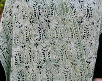 Knit Shawl Pattern:  Noda Shawl Knitting Pattern