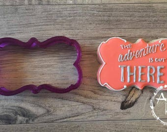 Jesse Plaque Cookie Cutter and Fondant Cutter and Clay Cutter