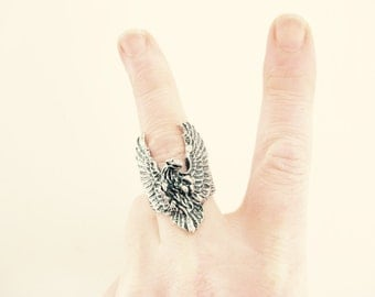 Vintage Large Eagle Ring // Size 8 // Bandit // Tribal